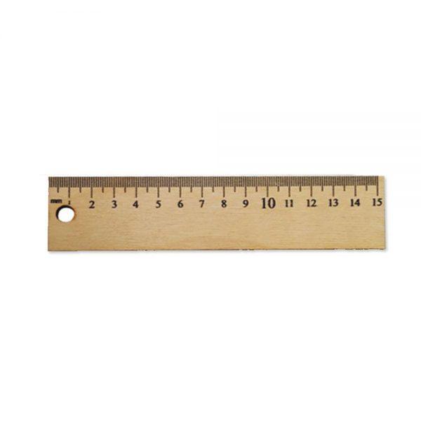 Ahþap cetvel 15 cm